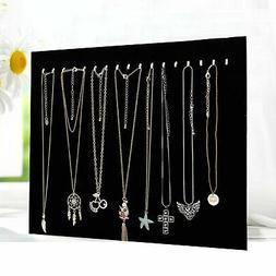 17 Hooks Jewelry Organizer Hanging Holder Necklace Earrings