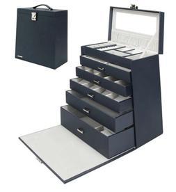 Homde 6 Layers Jewelry Organizer, Fully Locking Jewelry Box