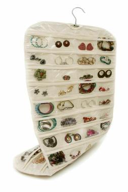 80 Pocket Hanging Jewelry Organizer Double Side Storage Acce