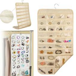80 Pocket Jewelry Hanging Organizer Earring Storage Bag Clos
