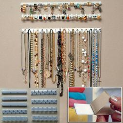 9PCS Adhesive Hanger Jewelry Necklace Earring Organizer Hold