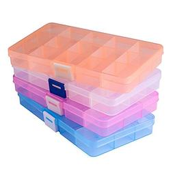 Opret Jewelry Organizer, Plastic Jewelry Box with Movable Di