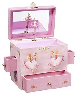 "Enchantmints Ballerina Musical Jewelry Box, ""Swan Lake"" Ball"
