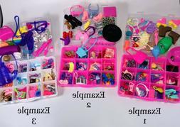 Mattel Barbie Accessories 50+pcs with Organizer ~ Shoes, Jew