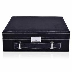 Black Velvety Briefcase Style 2-Tier Jewelry Organizer Box S