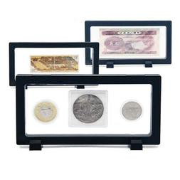 Money Protector Case Clear Coin Display Box Medal Jewelry Ho