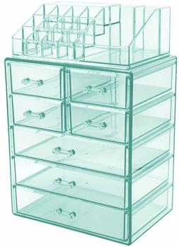 Cosmetic Makeup and Jewelry Storage Organizer Case Display S