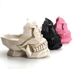 Creative Skull Heads Phone Holder Jewelry Storage Box Case C