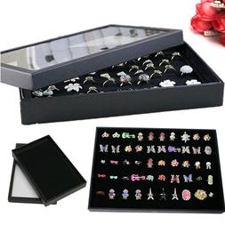 Fashion Jewelry Organizer Box Holder Show Case For Ring Earr