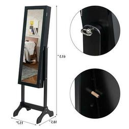 Full Length Large Mirror Jewelry Cabinet Armoire Storage Org