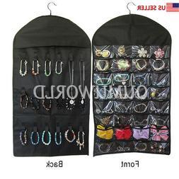 Hanging Jewelry Organizer Necklace Closet Bag Holder Travel