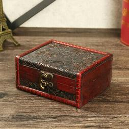 Jewelry Box Organizer Wooden Chest Treasure Jewelry Display