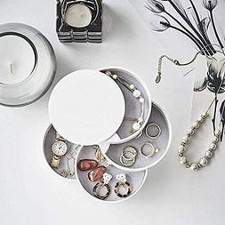 HengLiSam Jewelry Boxes Organizer Storage 4-Layer Rotatable