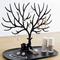 Jewelry Necklace Earring Tree Display Hanger Rack Stand Ring