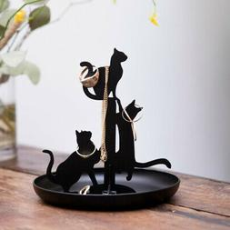 Kikkerland Jewelry Display Watch Bracelet Ring Holder Cats S