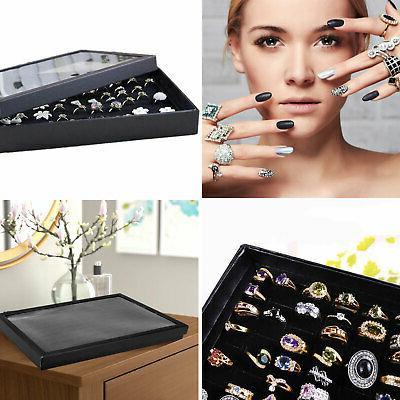 100 ring women lady jewelry display storage