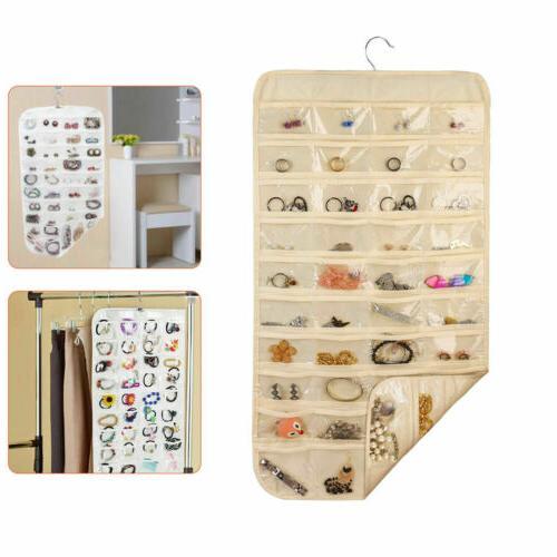 80 Pocket Jewelry Hanging Organizer Storage