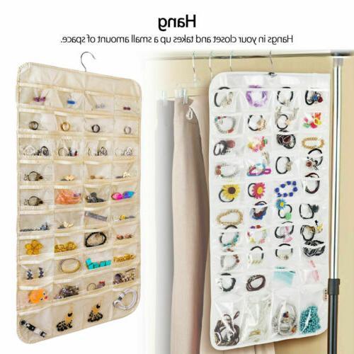 80 Pocket Hanging Organizer Earring Closet