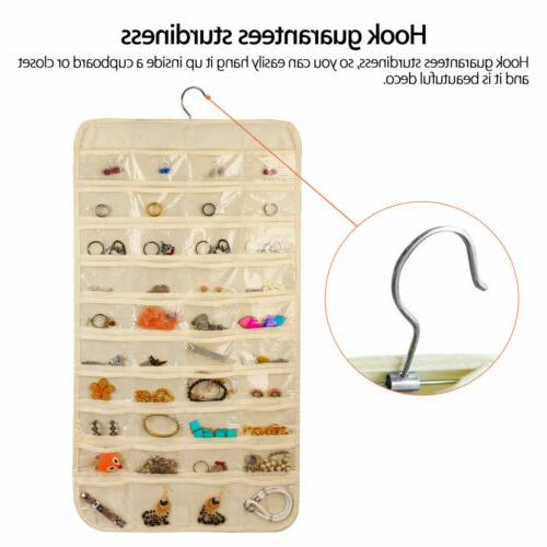 80 Pocket Jewelry Organizer Closet Display