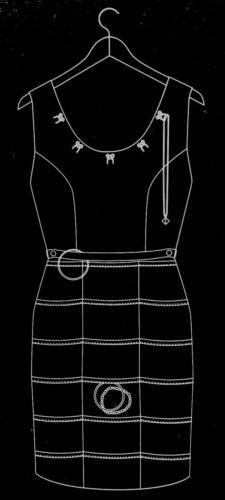 Cute Wall Hanging Double-Sided Little Black Dress-Shaped Jew