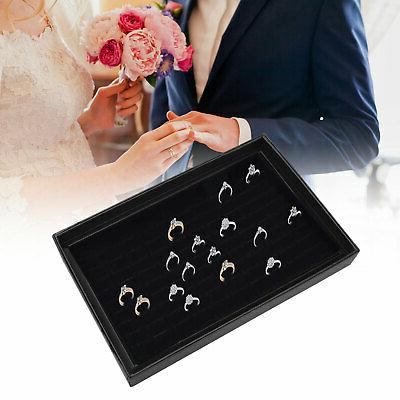 100 Ring Lady Jewelry Box Case Tray Show Holder