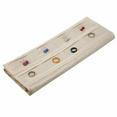 HJO80 Jewelry Organizer 80 Pocket Organizer for Holding Beige