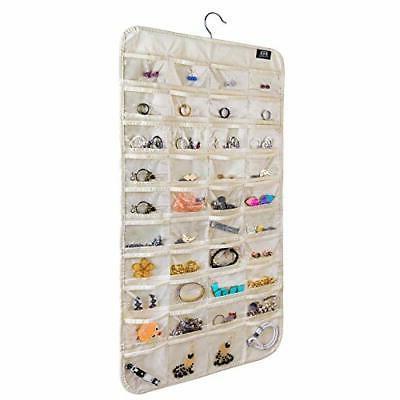 hjo80 hanging jewelry organizer 80 pocket organizer