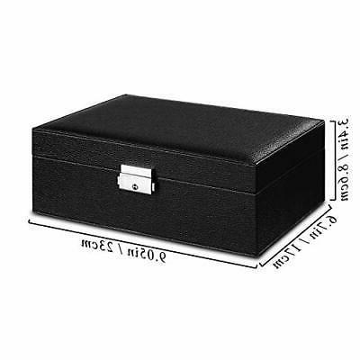 Jewelry Box Women Storage Leather