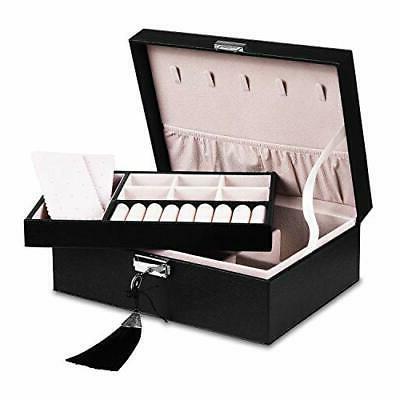 Jewelry - Women Two Layer Display Storage Leather