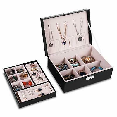 Jewelry Organizer Box Women Leather J