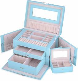Kendal Large Leather Jewelry Box / Case / Storage / Organize