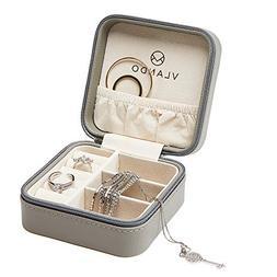 Vlando Macaron Small Jewelry Box, Travel Storage Case for Ri