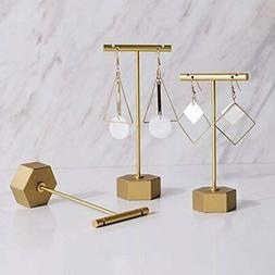 Metal 3pcs Earring T Stand Jewelry Display For Show, Retail
