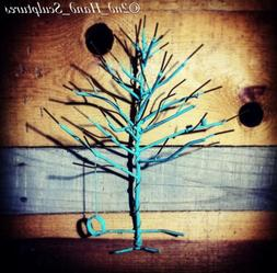 Metal Jewelry Tree Organizer Welded Art Functional Beauty Ra