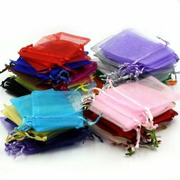 100pc 4X5inch Mixed Colors Jewelry Gift Candy Organza Pouch