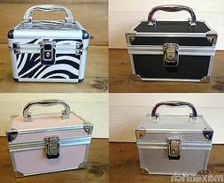 Modern Aluminum Jewelry Box Storage Organizer Velvet Interio