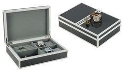 Decorebay Modern watch and Jewelry Box Storage Organizer Men