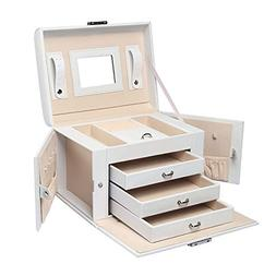 Homde Jewelry Box Necklace Ring Storage Organizer Synthetic