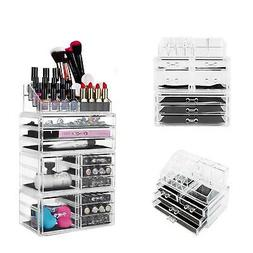 NEW Acrylic Makeup Cosmetic Storage Case Jewelry Organizer H