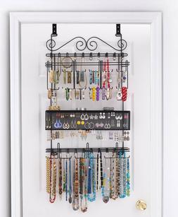 Longstem #6100 Over the Door Jewelry Organizer Valet ~ Paten