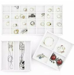 MESHA Stackable Jewelry Organizer Trays Muti-use Storage Hol
