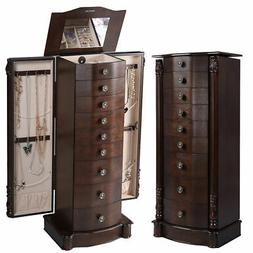 Giantex Storage Chest Stand Organizer Armoire Jewelry Cabine